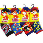 12 Pairs Kids Boys Funky Colorful Character Design Novelty Cute Socks Lot New