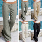 Fashion Women Ladies Trousers Pants Summer Casual Holiday Beach Pants Plus S-5XL