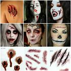 USA-HALLOWEEN PARTY Removable 3D Scary Zombie Tattoo Costume MakeUp Blood Injury