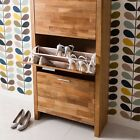 Oak Shoe Storage Cabinet Cupboard Choice of Sizes, Solid Oak Vermont