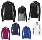 WOMEN'S DROP TAIL, WICKING, 1/2 ZIP, PULLOVER, THUMBHOLES, REFLECTIVE, XS-4XL