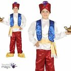 Boys Arabian Prince Genie Fancy Dress Costume Outfit Aladdin Thief Book Week New