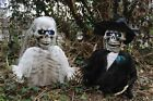SKELETON BRIDE AND GROOM PROP GROUND BREAKING LIGHT UP HALLOWEEN DECORATION