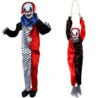 PACK OF TWO CLOWNS HALLOWEEN PROP SOUND ACTIVATED HANGING SCARY PARTY DECORATION