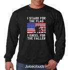 Patriotic Long Sleeve Shirt I Stand For The Flag I Kneel For The Fallen Mens Tee