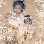 Big/Little Sister Matching Clothes Baby Girl Tops T Shirt Pants 2pcs Outfits Set