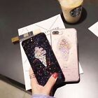 Korea Candy Ice Cream Beads Glitter Bling Gel Soft Case For iPhone 8 x 7 6s plus