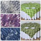 "6 pcs 72x72"" TABLE OVERLAYS Ombre Ribbon Mini Roses - Wedding Party Linens SALE"