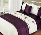 5pc Bed in a Bag - Purple Duvet Cover Faux Satin Silk Complete Bedding Set