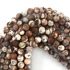 """Matte Mexican Crazy Lace Agate Round Beads Gemstone 15"""" 4mm 6mm 8mm 10mm 12mm"""