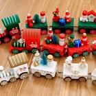 XMAS Santa Little Train Decoration Wooden Train Decor Christmas Ornament Gift LD