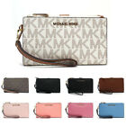 New Michael Kors Double Zip Phone Wallet Wristlet Jet Set Travel image