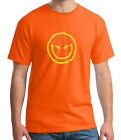 Evil Grin Emoji Adult's T-shirt Evil Smiley Face Tee for Men - 1088C