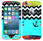 For Apple iPhone 6/6S KoolKase Hybrid Silicone Cover Case - Chevron Anchor 03