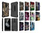 ZTE Blade Max 3 Z986 Dual Layer Heavy Duty KickStand Hybrid Holster Cover Case 2