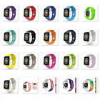 SILICONE RUBBER BAND/STRAP: Fits Apple Watch Series 1/2/3, 38mm