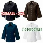 Women's Ladies 3/4 three quarter sleeve Tencel® fitted shirt formal casual lot