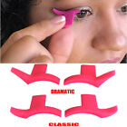 Hot Pink 2Wing Stamps Easy to Makeup Vamp Stamp Cat Eye Wing Eyeliner Stamp Tool