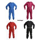 Kart Race Suit BLACK BLUE RED PINK Adult sizes Mechanic Motorsport Overalls