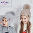 Ages 2-8 baby hat Children Winter Hats For Girls&Boy Cotton Thick Warm Knitted