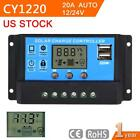 10 20 30A LCD Display Dual USB PWM Solar Panel Charge Controller Regulator MT
