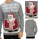Threadbare Adults Novelty Christimas Festive Jumpers Naughty Rude Santa Claus