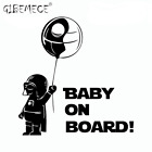Star Wars Wall Sticker Darth Vader Baby On Board Skywalker Deathstar Vinyl Wall $6.85 CAD