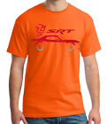Street and Racing Car Adult's T-shirt Dodge STR Silhouette Tee for Men - 1873C