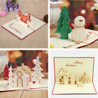 3D Handmade Creative Christmas Series Greeting Card Best Wishes Xmas Gifts New