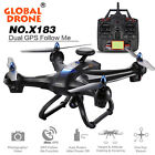 DUAL GPS Global X183 5.8G WiFi FPV 1080P Camera Brushless Quadcopter Helicopter