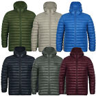 Tokyo Laundry Mens Designer Torbrock Jacket Casual Padded Puffer Hooded Coat