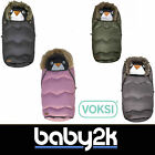 Voksi Urban Fur Hood Pushchair Pram Stroller Winter Footmuff Cosy Toes BNIP