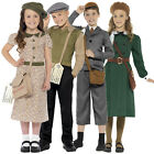 Smiffys Kid WW2 Girls Or Boys History Costume World Book Week Fancy Dress Outfit
