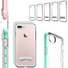 For iPhone 8 Plus Crystal Clear Transparent Soft TPU Back Hard Rugged Cover Case