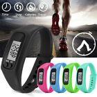 Women Men's Sports LCD Watch Run Step Pedometer Calorie Counter Bracelet Watches