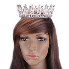 2'' High Prom Gold King Queen Crystal Crown Wedding Party Rhinestone Royal Tiara
