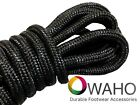 Black with Black Kevlar ® Heavy Duty Reinforced Shoe / Boot Laces Bootlaces New