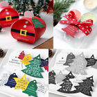 1 Sheet Merry Christmas Hanging Card Gift Tag Wedding Party Xmas Ornaments Decor
