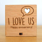 I Love Us - Personalised Wooden Anniversary Plaque - Anniversary Sign