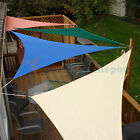Sun Shade Sail Beige Right Triangle Permeable Canopy Lawn Patio Garden 8-24 KIT8