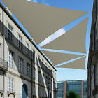 Beige Sun Shade Sail Permeable Equilateral Triangle Canopy Lawn PatioPool Awning
