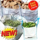 LARGE WHITE BULK BAGS FIBC BUILDER WASTE 1 TONNE TON BAG SACK JUMBO 1000KG WASTE