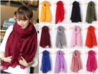New Big Long Super Soft Solid Voile scarf Womens ladies shawl Wraps Tippet Cape