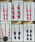 Fashion beaded drop/dangle Earrings -  Assorted colours