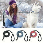 Reflective Climbing Rope Nylon Dog Leads Cord With Handle Heavy Duty Pet Leash