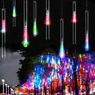 144LED Lights Meteor Shower Rain Tube Snowfall Tree Garden Christmas Xmas White