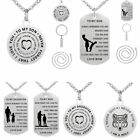 TO MY SON/Daughter Letter Stainless Steel Pendant Necklace Keychain Family Gift
