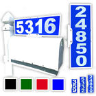 number plaque - Mailbox Address Plaque, Blue Horizontal or Vertical, Reflective 911 Plate