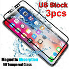 3PCS FUll Cover Temper Glass Film Soft Edge Screen Protector for iPhone X 8 Plus