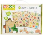 Wood Works Numbers Alphabet Learning Puzzle Kids Teaching Wooden Jigsaw Toys